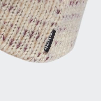 Bandeau Fleece-Lined AEROREADY Knit Blanc Femmes Fitness Et Training