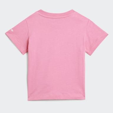 Camiseta Adicolor Rosa Niño Originals
