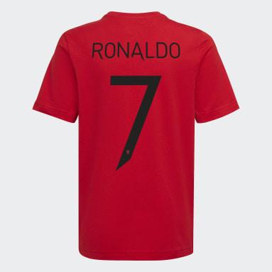 Chlapci Futbal červená Tričko Manchester United Graphic