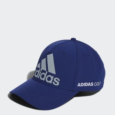 Men Golf Blue Badge of Sport Logo Cap