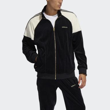 Herr Originals Svart adidas SPRT Firebird Velour Track Jacket