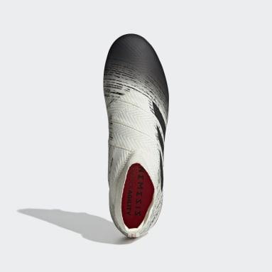 Calzado de Fútbol Nemeziz 18+ Terreno Firme Blanco Hombre Fútbol