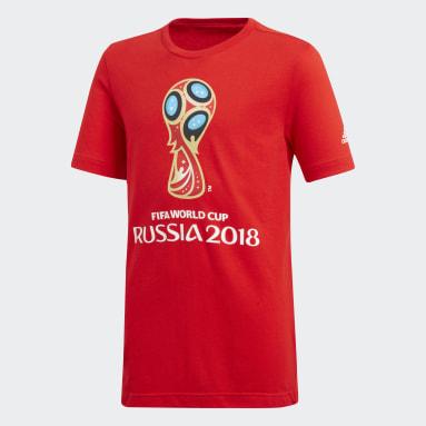 Playera FIFA World Cup Emblem Graphic Rojo Niño Fútbol