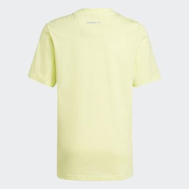 Funny Dino Graphic T-skjorte Gul