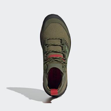 TERREX Green Terrex Free Hiker Blue Hiking Shoes
