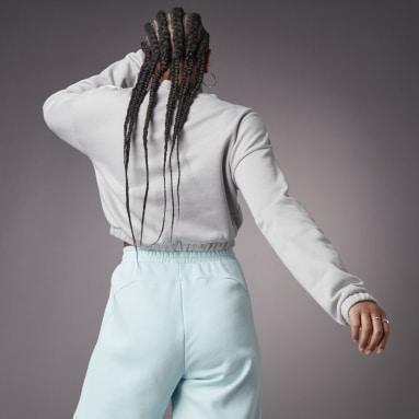 Women Sportswear Grey Hyperglam Crop Crew Sweatshirt