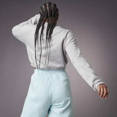 Sweatshirt Curta Hyperglam Cinzento Mulher Sportswear