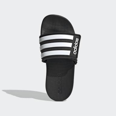 Kids Swimming Black Adilette Comfort Adjustable Slides