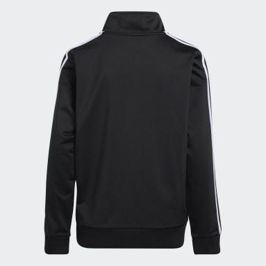 Youth Training Black Iconic Tricot Jacket (Extended Size)