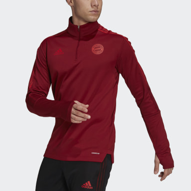 Men Football Red FC Bayern Tiro Warm Top