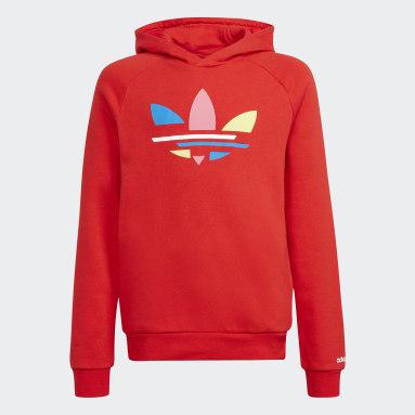 Sudadera con capucha Adicolor Rojo Niño Originals