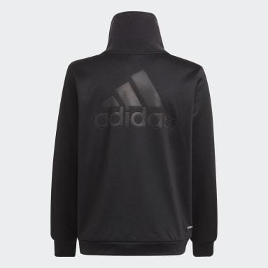 Sudadera Designed to Move Fleece Half Zip (Género neutro) Negro Niño Gimnasio Y Entrenamiento