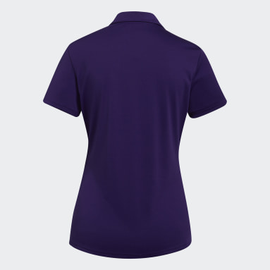 Women Golf Purple Performance Polo Shirt