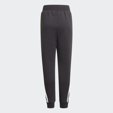 Kids Sportswear Black Future Icons 3-Stripes Tapered-Leg Joggers