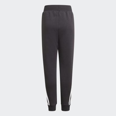 Pantaloni Future Icons 3-Stripes Tapered-Leg Nero Bambini Sportswear
