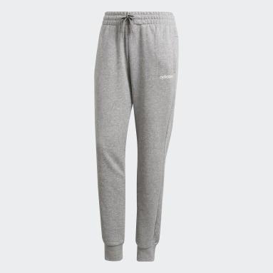 Women Sportswear Grey Essentials Solid Joggers