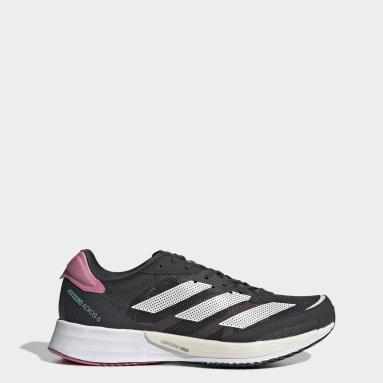 Women Running Grey Adizero Adios 6 Shoes