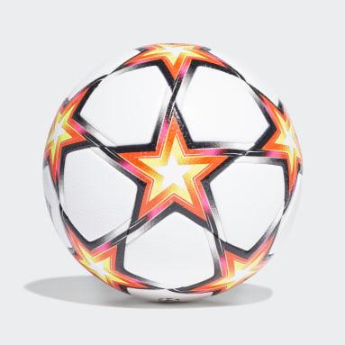 Soccer White UCL Pro Pyrostorm Ball