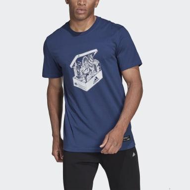 Men Sportswear Blue London Shoebox T-Shirt