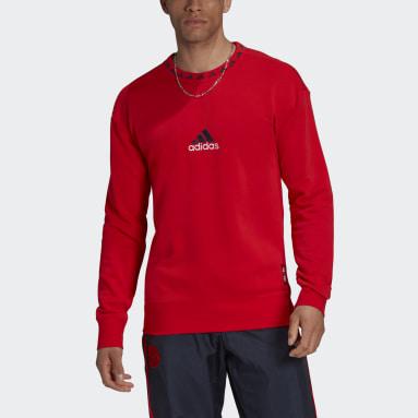 Men's Soccer Red FC Bayern Icons Crew Sweatshirt