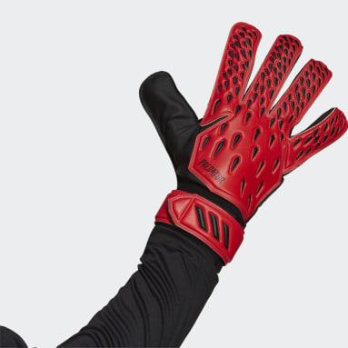 красный Вратарские перчатки для тренировок Predator