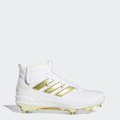 Men's Baseball White Adizero Afterburner 8 NWV Cleats