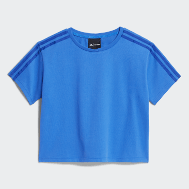 Kids 4-8 Years Originals Blue Crop Tee