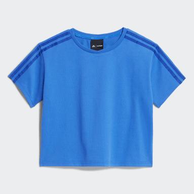 T-shirt IVY PARK Crop Blu Ragazza Originals