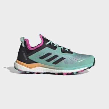 Sapatos de Trail Running TERREX Agravic Flow Verde Mulher TERREX