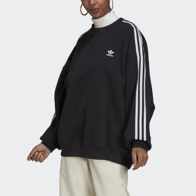 Dames Originals Zwart Adicolor Classics Oversized Sweatshirt