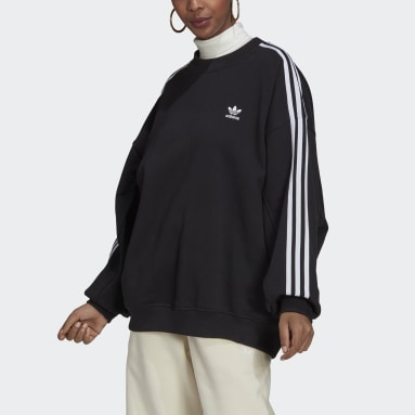 Ženy Originals černá Mikina Adicolor Classics Oversized