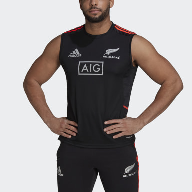 Camiseta sin mangas All Blacks Rugby Performance Primeblue Negro Hombre Rugby