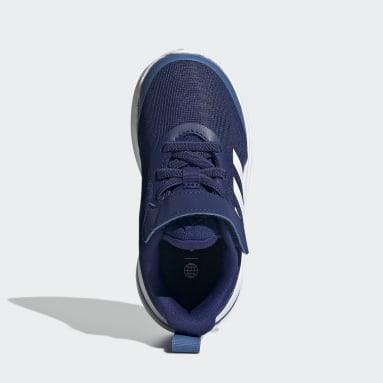 Børn Løb Blå FortaRun Elastic Lace Top Strap Running sko