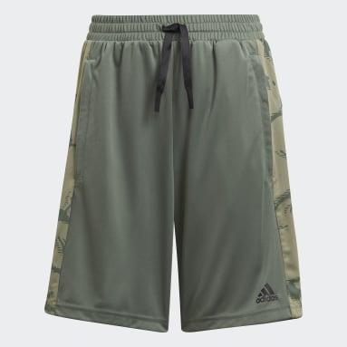 Boys Lifestyle Green adidas Designed To Move Camouflage Shorts