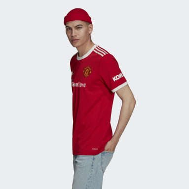 Maillot Domicile Manchester United 21/22 Rouge Hommes Football