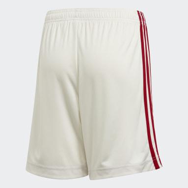 Kids Football White Belgium Away Shorts