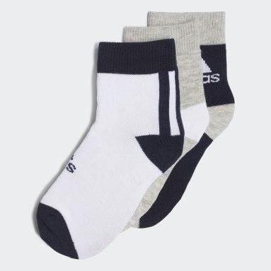 Kids Sports Blue Ankle Socks 3 Pairs