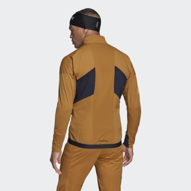 Men TERREX Brown Terrex Xperior Cross-Country Ski Soft Shell Jacket