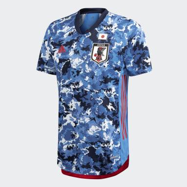Maillot Domicile Japon Authentique Bleu Hommes Football