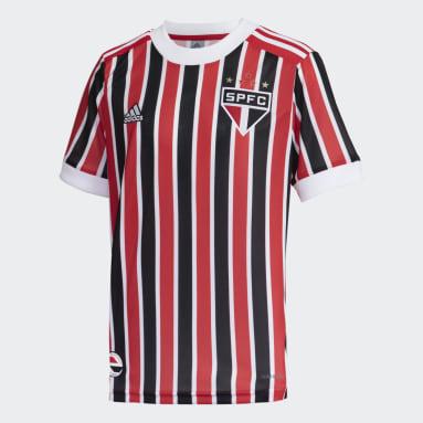 Camisa 2 São Paulo FC 21/22 Vermelho Meninos Futebol