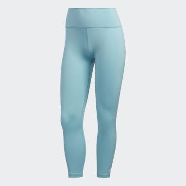 Legging 7/8 Believe This 2.0 Primeblue Azul Mulher Training