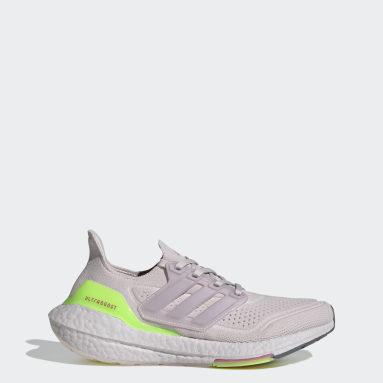 Women Running Purple Ultraboost 21 Shoes