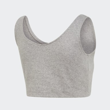 Playera sin mangas Styling Complements Cropped Gris Mujer Originals