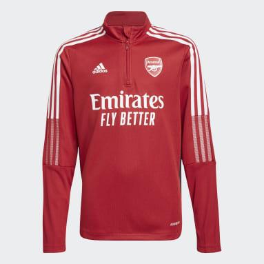 Youth 8-16 Years Football Burgundy Arsenal Tiro Training Top