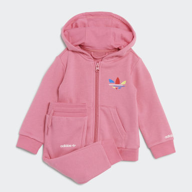 Tuta adicolor Full-Zip Hoodie Rosa Bambini Originals