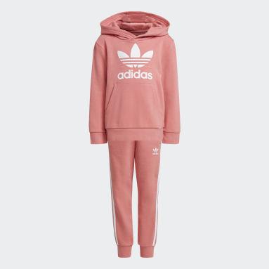 розовый Комплект: худи и брюки Trefoil