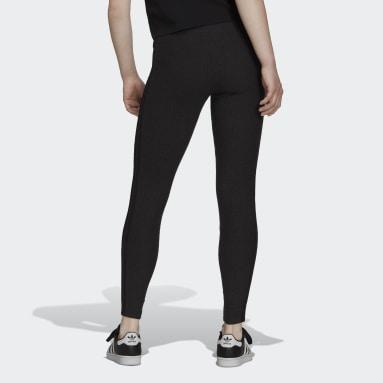 Women's Originals Black Comfy Tights in Single Jersey with Metallic Trefoil Badge