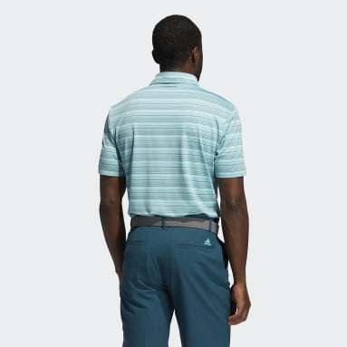 Men's Golf Turquoise Heather Snap Polo Shirt