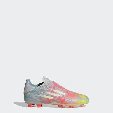 Kids Football Grey X Speedflow+ Firm Ground Boots