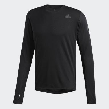 Men Running Black Own the Run Long-Sleeve Top